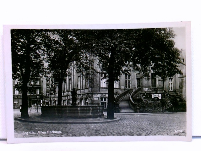 AK Liegnitz, Altes Rathaus; Ratskeller; Schlesien, 1942, Legnica