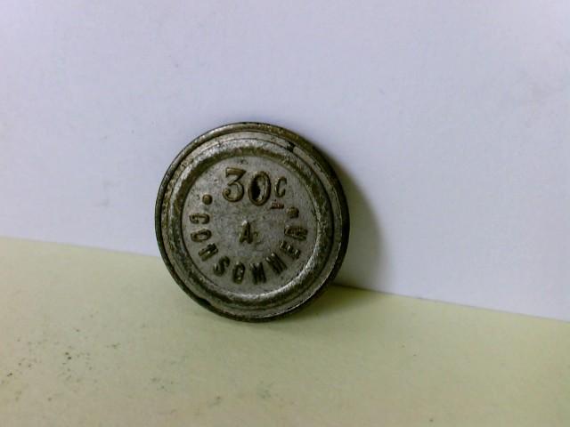 Münze/ Medaille:  30 C.  Consomer