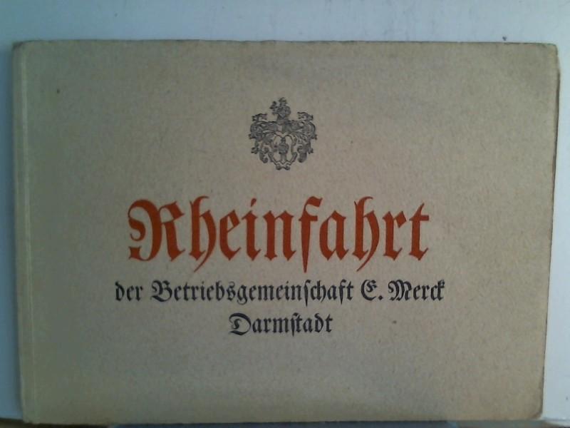 Rheinfahrt der Betriebsgemeinschaft E. Merck, Darmstadt, Rheinfahrt am 13. August 1939 Betriebsausflug