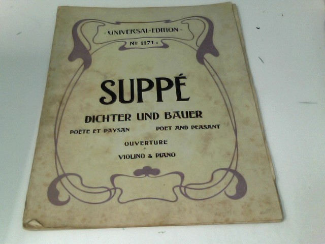 Suppe : Dichter und Bauer. Poete et Paysan / Poet and Peasant : Overture : Violino & Piano.