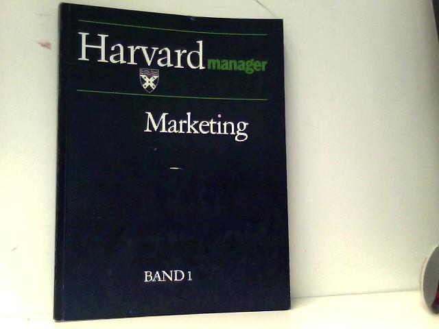 Harvard manager Band 1  Marketing