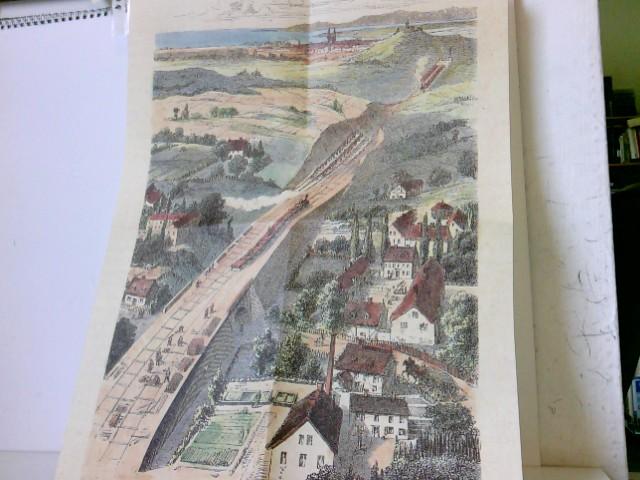 Eisenbahndurchstich und Damm, im Bau begriffen - aus der Reihe: Deutsche Eisenbahn Edition, REPRINT