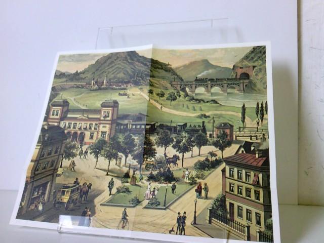 Anschauungstafel Post und Eisenbahn (um 1865) - aus der Reihe: Deutsche Eisenbahn Edition, REPRINT