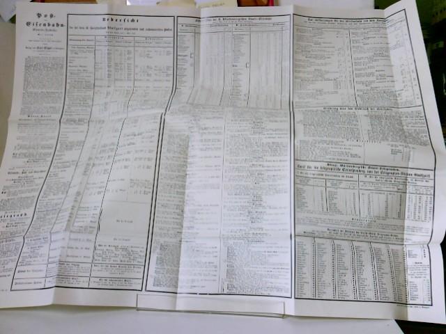 Post- und Eisenbahn-Cours-Tabelle. Mai 1852 - aus der Reihe: Deutsche Eisenbahn Edition, REPRINT