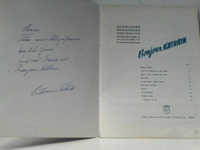 Bonjour, Katgrin Ausgabe für Klavier/Gesang