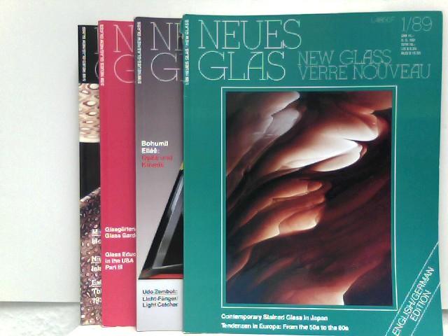 Verlagsanstalt Handwerk GmbH (Hrsg.): Neues Glas - New Glass - Verre Nouveau - 4 Hefte, Jahrgang 1989 (komplett)