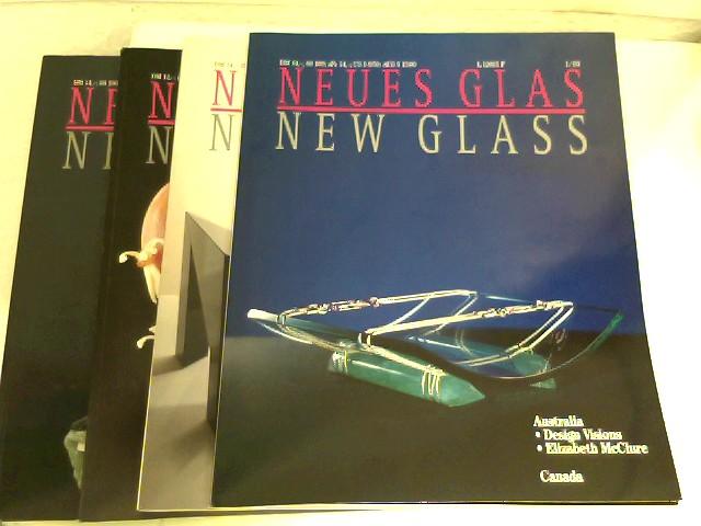Verlagsanstalt Handwerk GmbH (Hrsg.): Neues Glas - New Glass - 4 Hefte, Jahrgang 1993 (komplett)