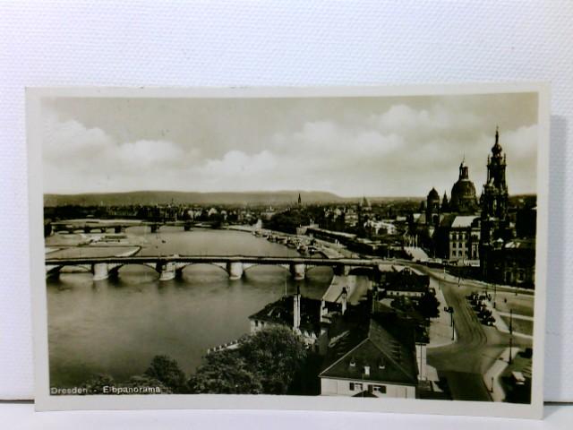 AK Dresden, Elbpanorama; Zugstempel Berlin-Hannover Zug 6; 1933