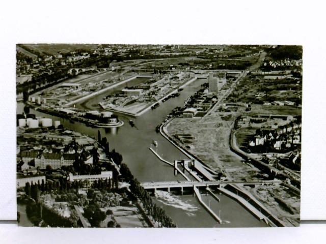 AK Stuttgart, Neckarhafen; Luftaufnahme, ungelaufen
