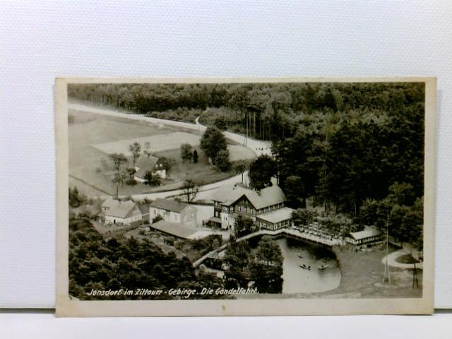 """AK Jonsdorf im Zittauer Gebirge, """"Die Gondelfahrt""""; gelaufen 1951"""