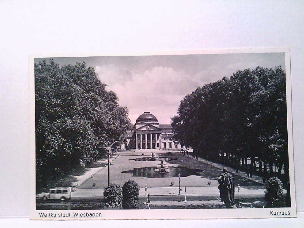 AK Weltkurstadt Wiesbaden Kurhaus.