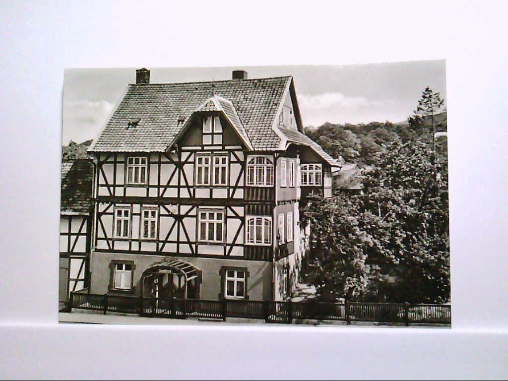 """AK Ilsenburg/Harz FDGB Erholungsheim """"Seeblick"""" Echt Foto Gelaufen."""