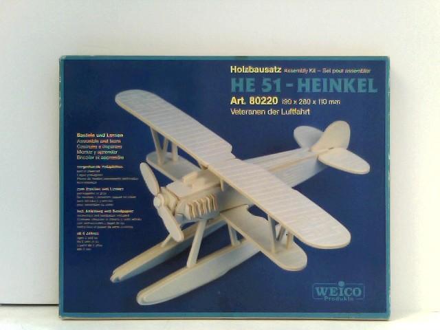 Weico 80220 - Holzbausatz: He 51-Heinkel