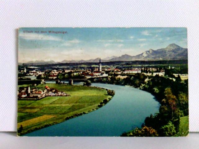 AK Villach mit dem Mittagskogel; K. u. K. Zensurstempel; gelaufen ca. 1916