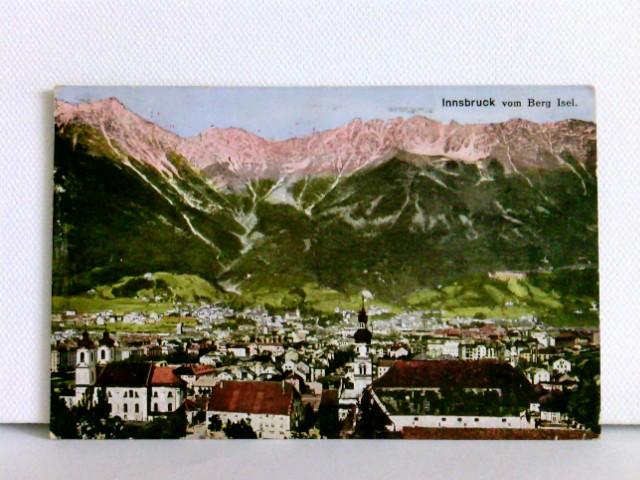 AK Innsbruck vom Berg Isel; Stempel K.u.K. Militärzensur; gelaufen 1915