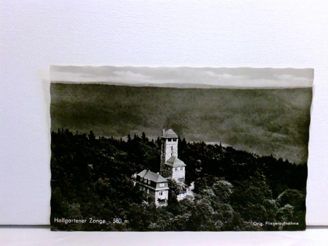 AK Hallgartener Zange 580 m, Luftbild, Fliegeraufnahme; ungelaufen, ca. 1960