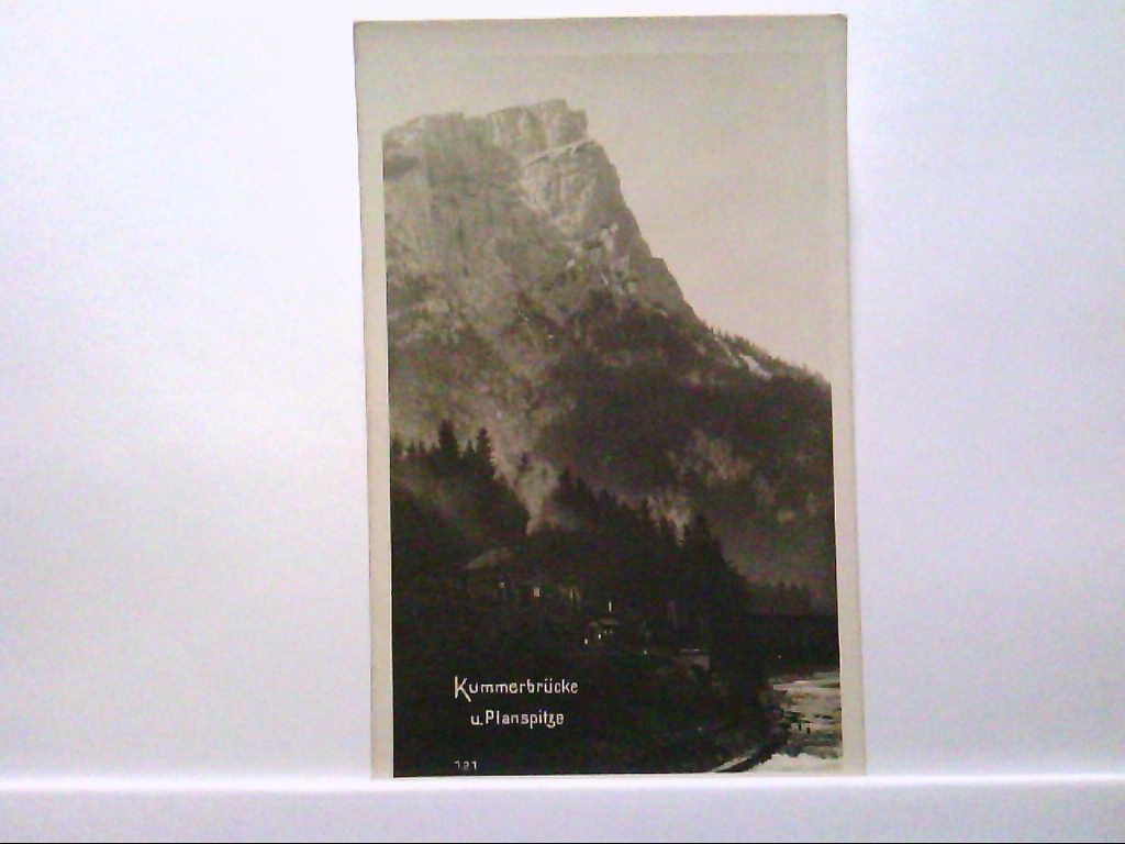 AK Gesäuse/Östereich, Kummerbrücke und Planspitze, Echte Photografie, Nr. 40121, Ungelaufen.