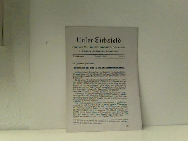 o.A:: Unser Eichsfeld: KOPIE!!! Heft 12 Dezember 1937 (Seiten 273 - 277)