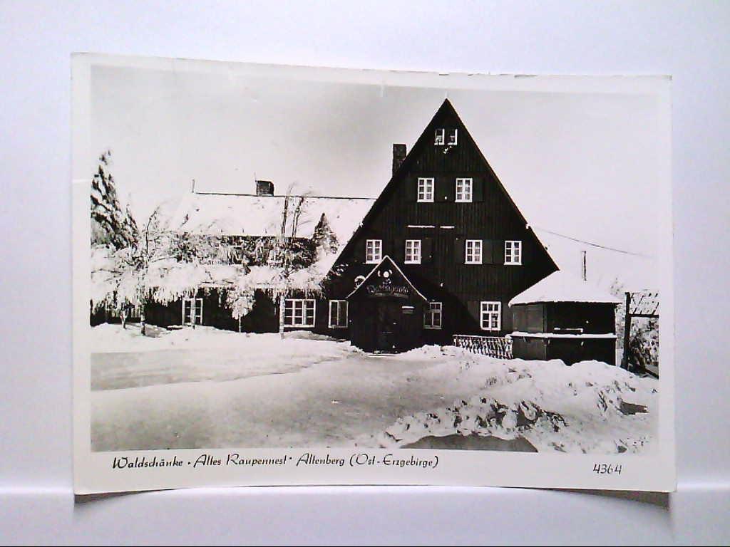 AK Altenberg/Erzgebirge, Waldschänke, Altes Raupennest, Winterpanorama, 1984, Gelaufen.