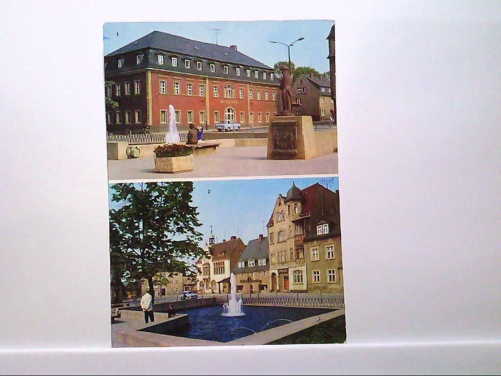 AK Brand-Erbisdorf, Mehrbildkarte, Brander Hof, Rathaus am Markt, Farbe, Ungelaufen.