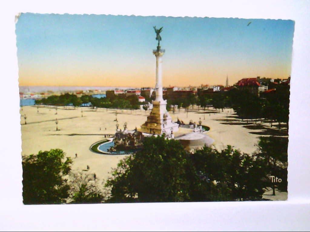 AK Bordeaux/La Place des Quinconces, Panoramaansicht, Coloriert, Ungelaufen.