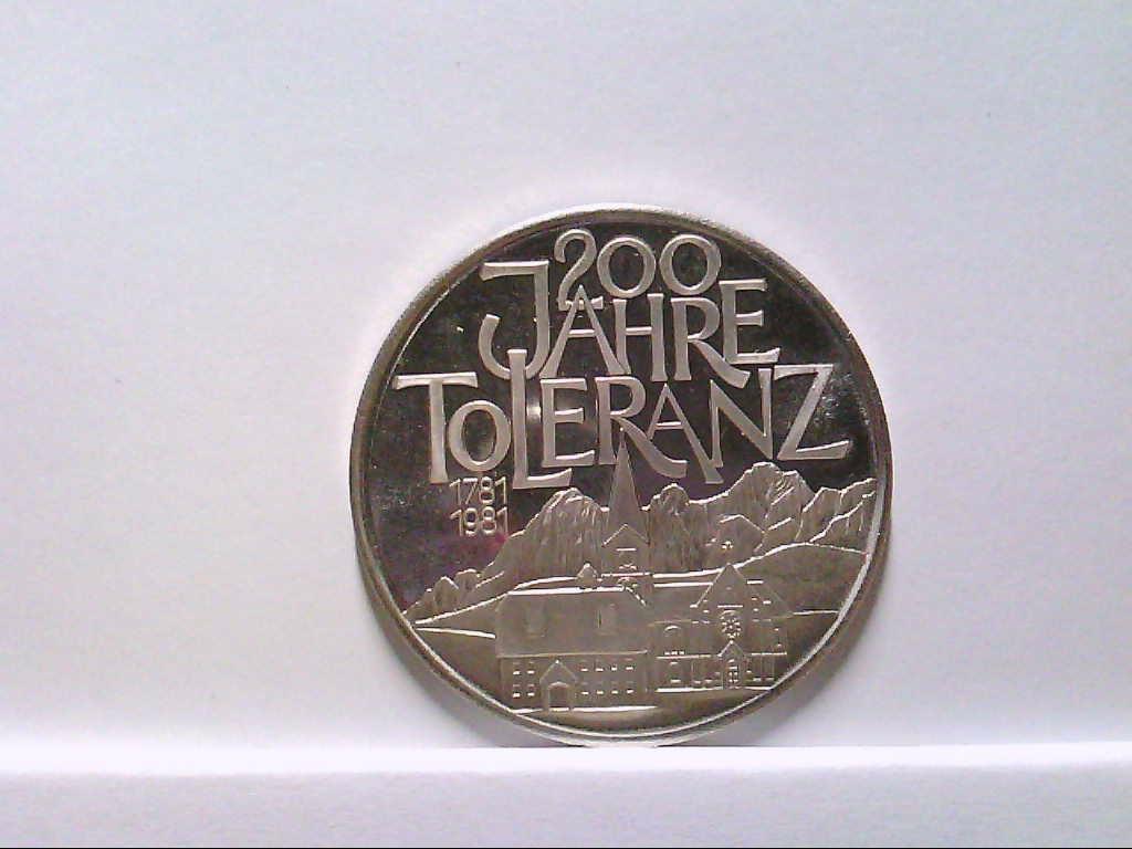 Medaille aus Ramsau am Dachstein, Silber 900/1000er, 18 gramm, 4 cm. Durchmesser, Toleranz, Vorzüglich.