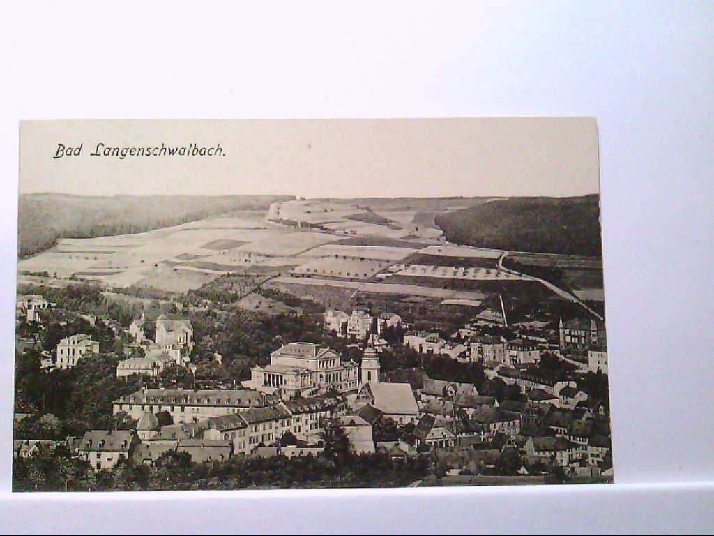 AK Bad Langenschwalbach/Bad Schwalbach, Gesamtansicht, Panoramaansicht, Ungelaufen.