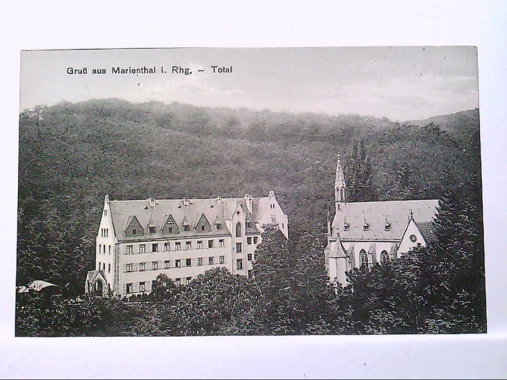 AK Marienthal im Rheingau, Wallfahrtskirche mit dem Kloster, Gebäude, Panorama, Ungelaufen.