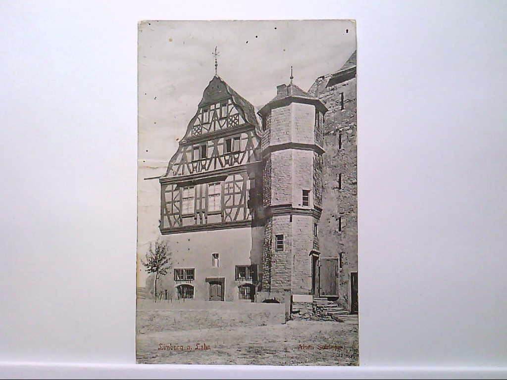 AK Limburg an der Lahn, Altes Schloss, Gebäudeansicht, 1913, Gelaufen.
