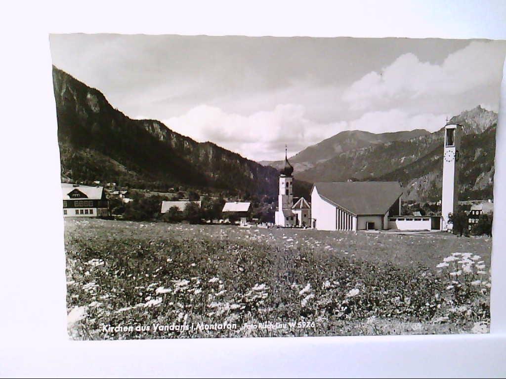 AK Vandans in Montafon/Österreich, Kirchen, Panoramaansicht, Ungelaufen.