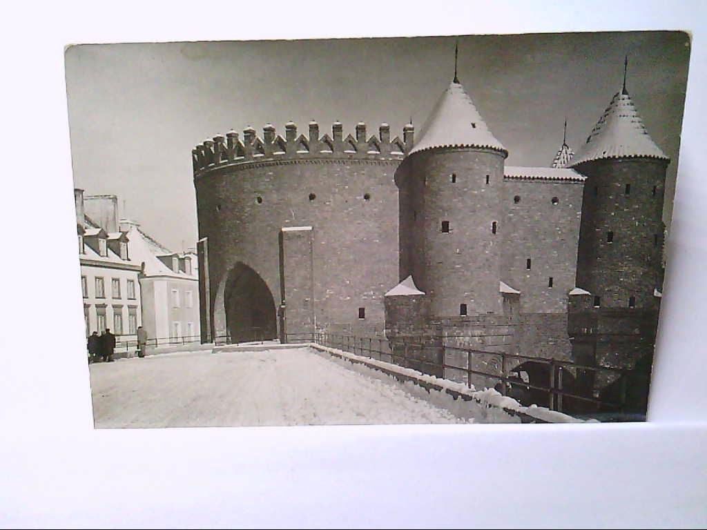 AK Warschau/Barbican/Polen, Die Warschau Wälle, erbaut um die Altstadt, Ungelaufen.