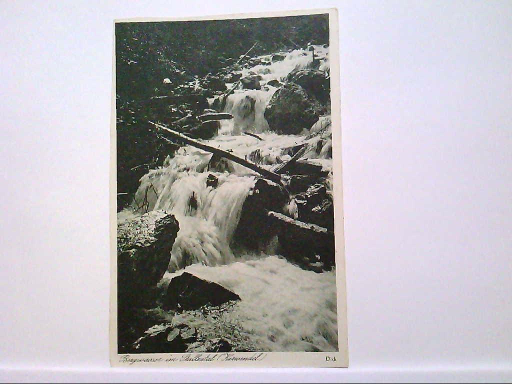 AK Stallental/Bayern, Bergwasser im Stallental (Karwendel), Panoramaansicht, 1955, Ungelaufen.