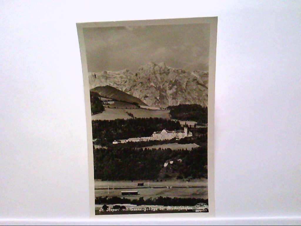 AK St.Ruppert/Österreich, mit Tennengebirge bei Bischofshofen, Panoramansicht, Echte Photografie, Ungelaufen.