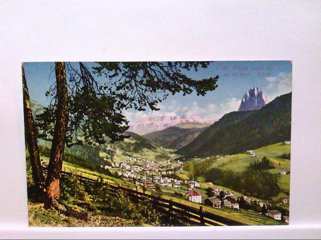 AK St.Ulrich in Gröden/Italien, Tirol, Panoramaansicht, Total, Ungelaufen.