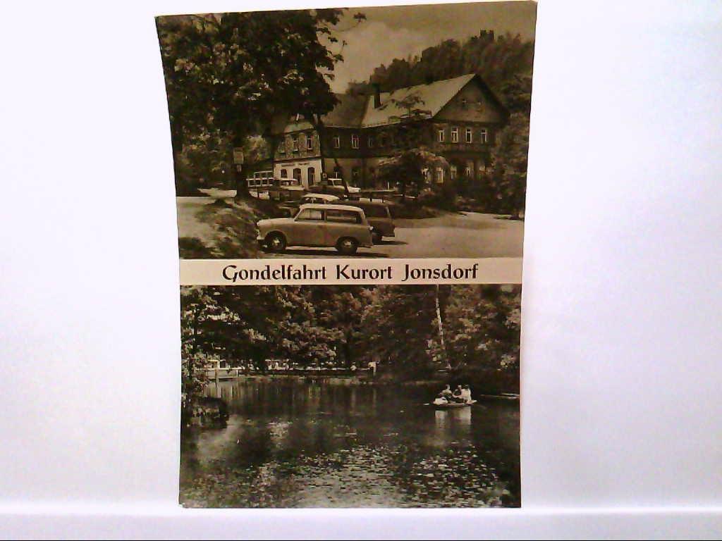 AK Jonsdorf / Kurort, Gondelfahrt, Gaststätte, alte PKW, Ruderer.