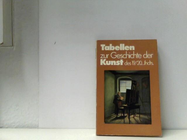 Battenberg, Gitta: Tabellen zur Geschichte der Kunst des 19./20. Jahrhunderts