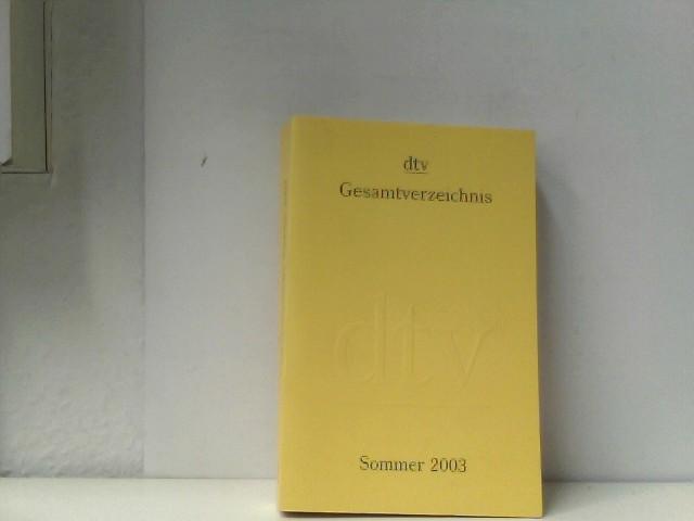 Gesamtverzeichnis- Sommer 2003
