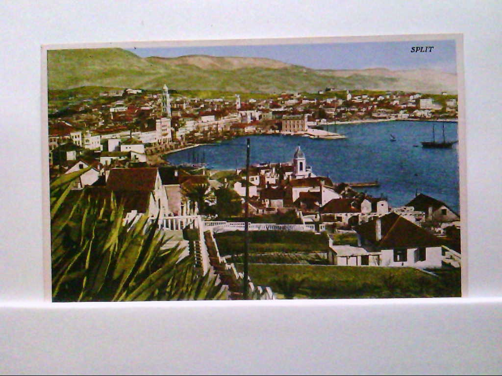AK Split / Kroatien, Panoramaansicht, Blick über die Stadt.