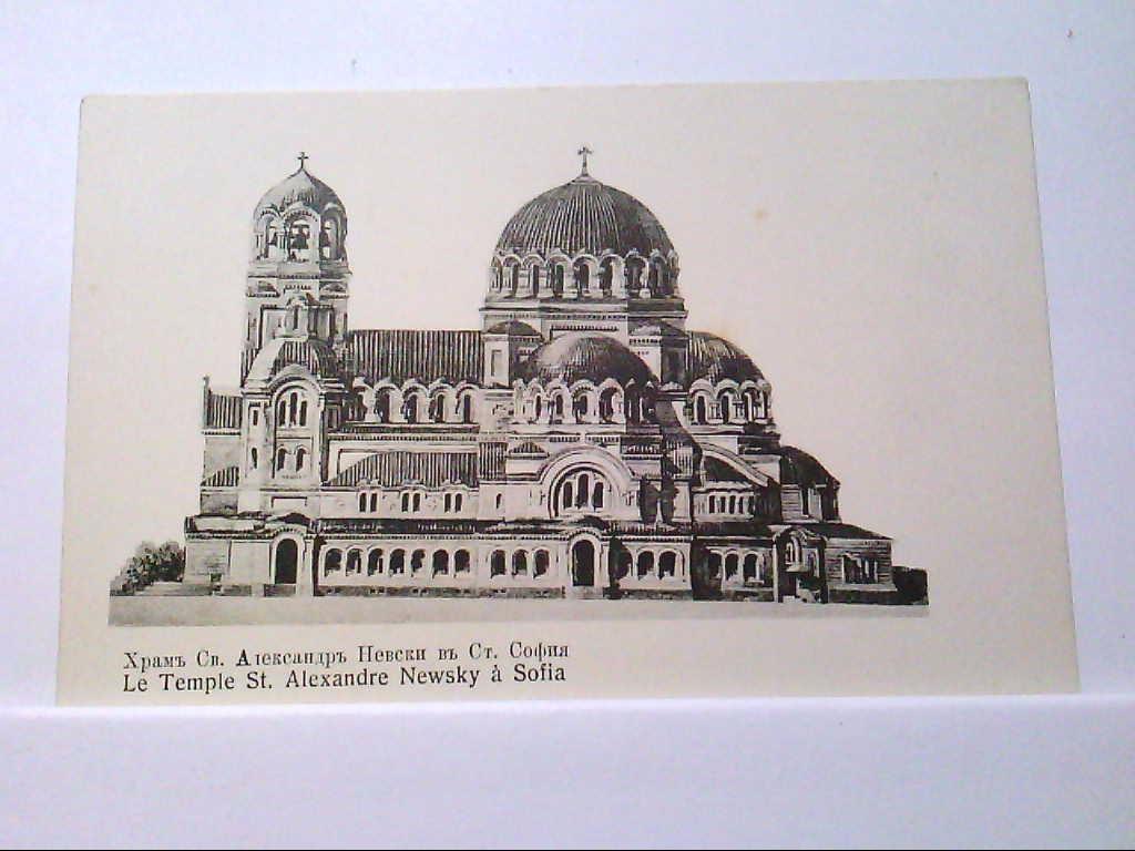 AK Sofia / Bulgarien, Le Temple St. Alexandre Newsky a Sofia.