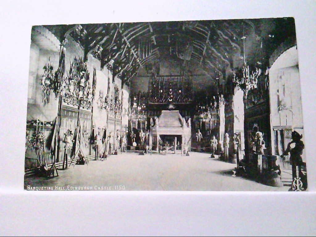 AK Edinburgh / England, Banqueting Hall, Edinburgh Castle, Innenansicht.