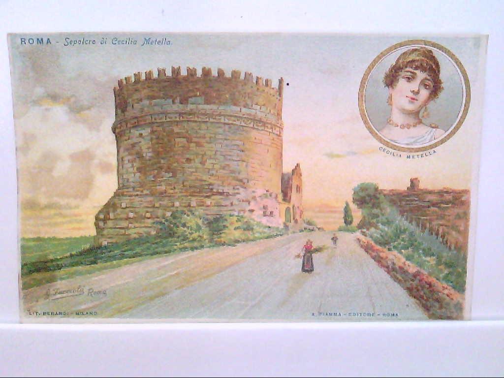 AK Roma / Rom / Italien,  Künstlerkarte, Sepolcro di Cecilia Metella.