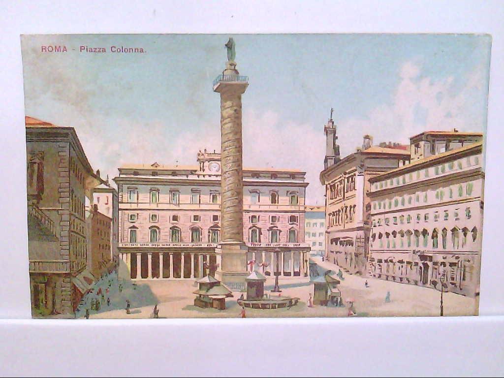 AK Roma / Rom / Italien,  Künstlerkarte, Piazza Colonna.