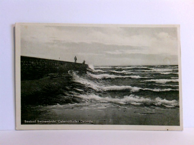 AK Seebad Swinemünde, Osternothafen Ostmole; gelaufen 1933