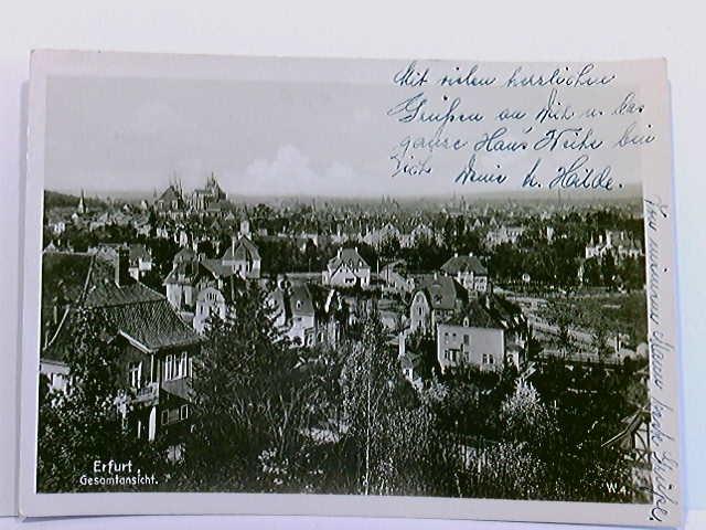 AK Erfurt, Gesamtansicht; gelaufen 1945