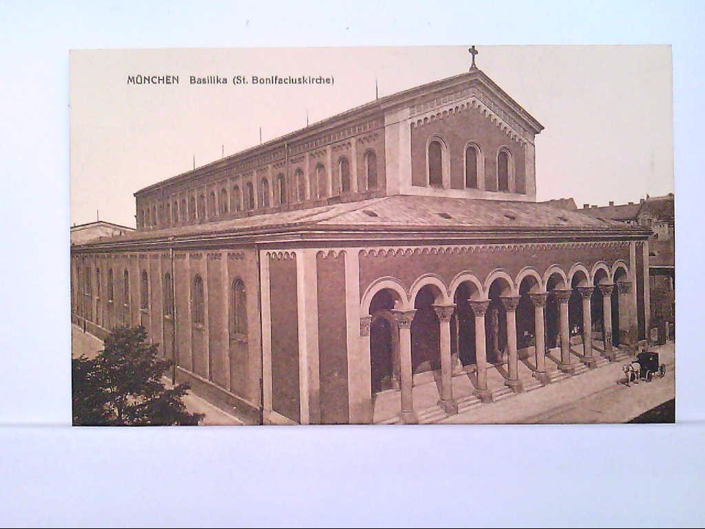 AK München - Basilika, St. Bonifaciuskirche.