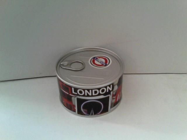 London Uhr aus der Dose: 10 x 5 cm