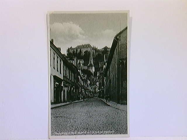 AK Blankenburg a. Harz, Aufblick zum Schloß mit Tränkestr.; gelaufen 1943