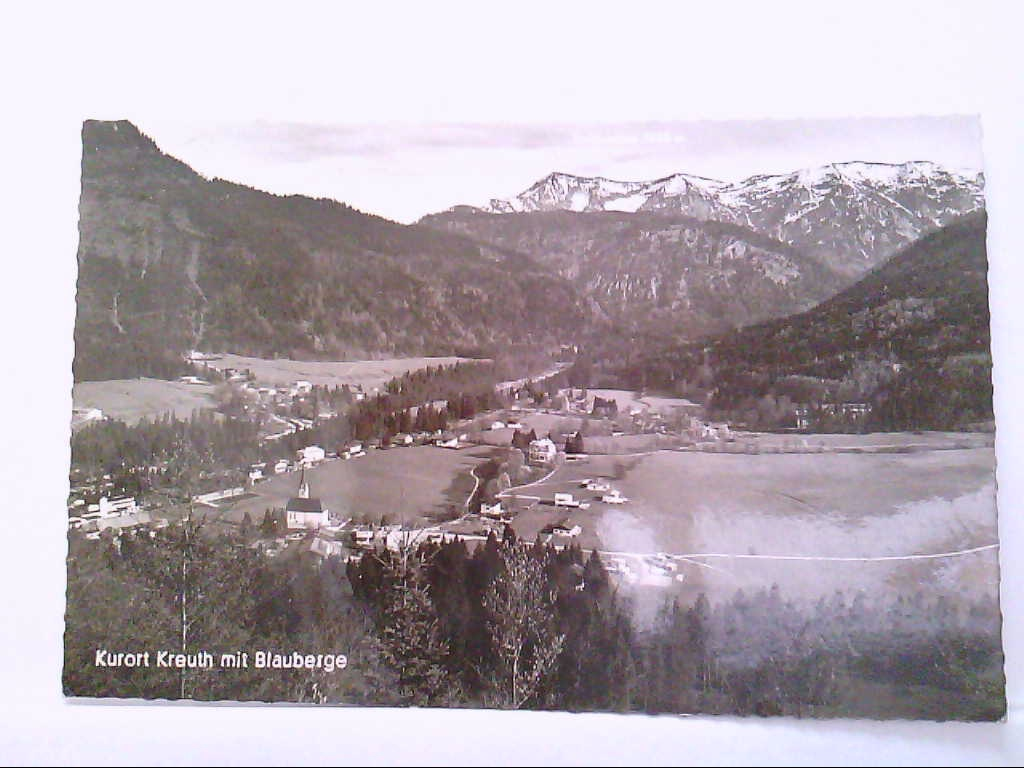 AK Kreuth / Kurort in Bayern mit Blauberge, Panoramaansicht.