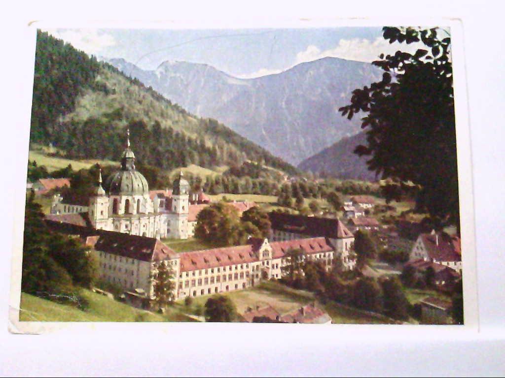 AK Ettal in Bayern, Benediktinerabtei Ettal.