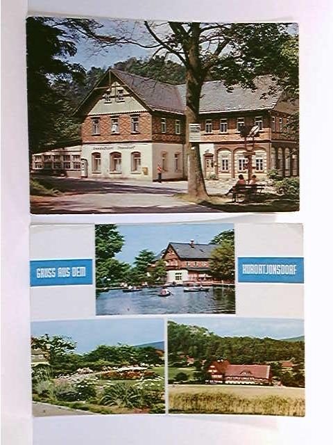 2 AK Jonsdorf; Gondelfahrt; Mehrbild mit 3 versch. Ansichten; gelaufen 1990/ ungelaufen 1970; Konvolut